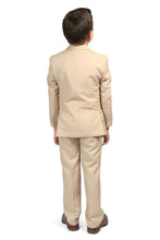 "Load image into Gallery viewer, ""Jax"" Kids Tan Suit 5-Piece Set"