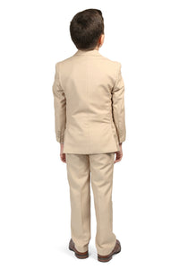 """Jax"" Kids Tan Suit 5-Piece Set"
