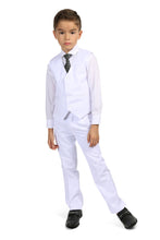 "Load image into Gallery viewer, ""Jax"" Kids White Suit 5-Piece Set"