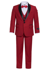 """Reno"" Kids Red Tuxedo 5-Piece Set"