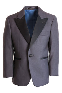 """Fitzgerald"" Kids Steel Grey Tuxedo Jacket (Separates)"
