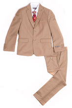 "Load image into Gallery viewer, ""Austin"" Kids Tan 5-Piece Suit"