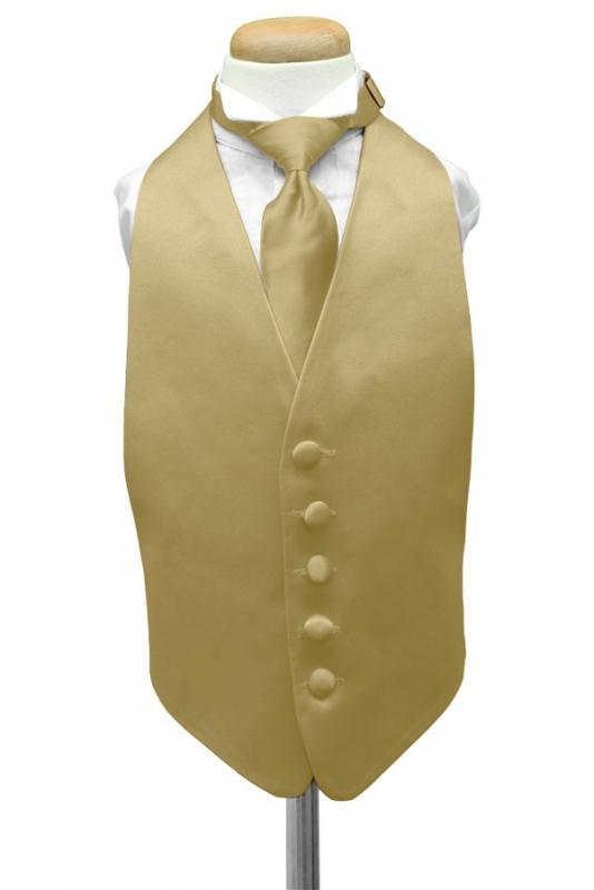Harvest Maize Luxury Satin Kids Tuxedo Vest