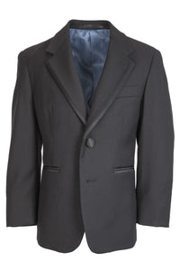 """Infinity"" Kids Black Tuxedo Jacket (Separates)"