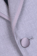 "Load image into Gallery viewer, ""Infinity"" Kids Heather Grey Tuxedo Jacket (Separates)"