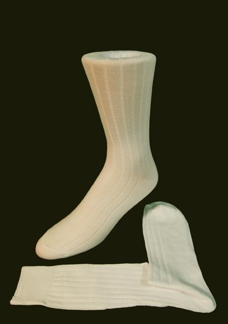 Ivory Ribbed Kids Formal Socks