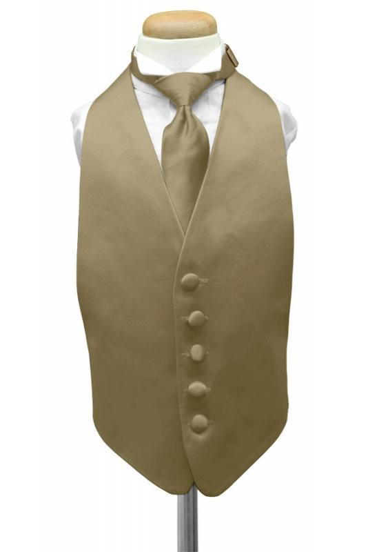 Lemon Luxury Satin Kids Tuxedo Vest