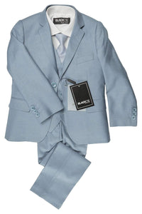 """Premium"" Kids Light Blue 5-Piece Wool Blend Suit"