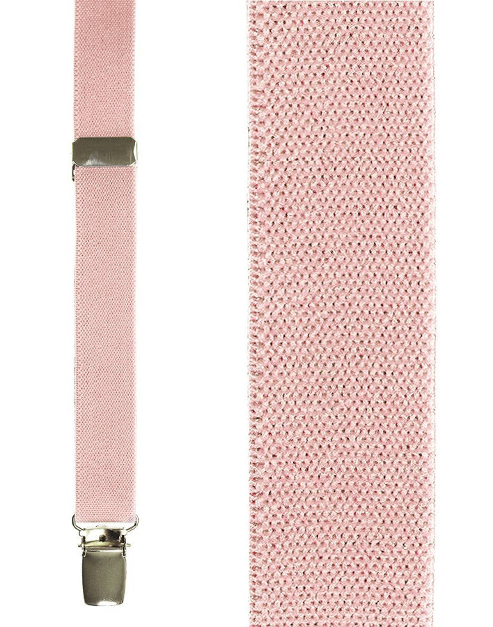 Kids Light Pink Oxford Suspenders