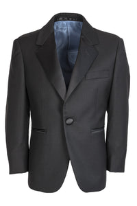 """Madrid"" Kids Black Tuxedo Jacket (Separates)"