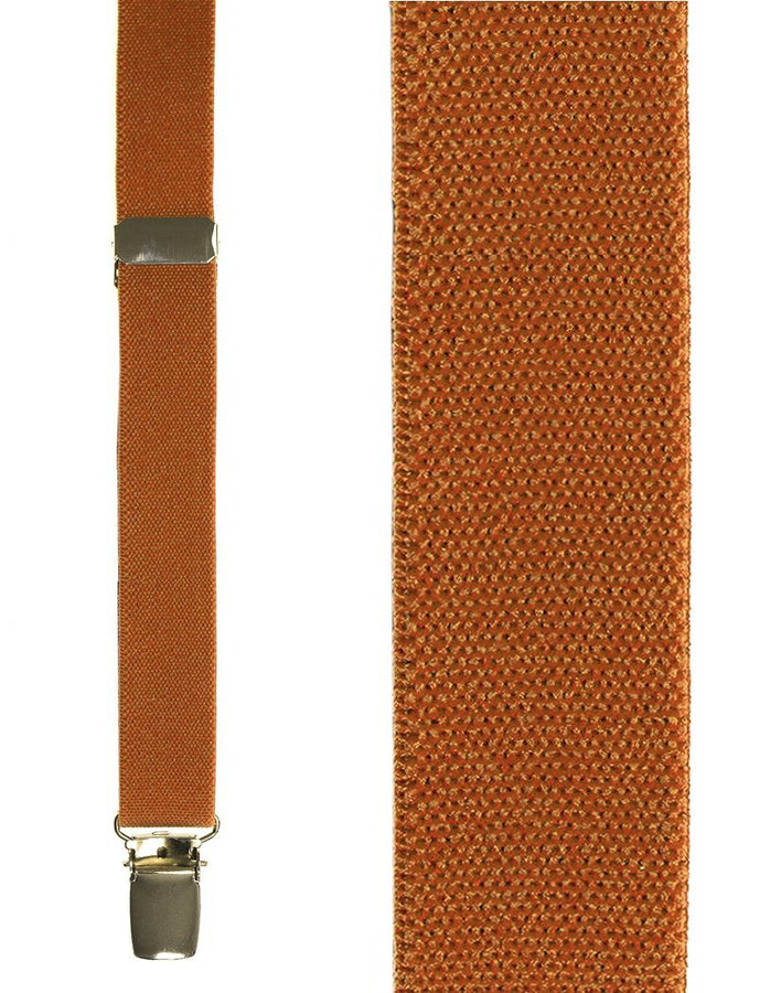 Kids Orange Oxford Suspenders