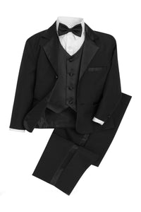 """Bond"" Kids Black Tuxedo 5-Piece Set"