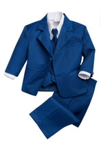 "Load image into Gallery viewer, ""Joey"" Kids Cobalt Suit 5-Piece Set"