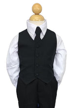 "Load image into Gallery viewer, ""Joey"" Kids Black Suit 5-Piece Set"