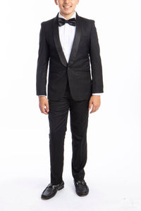 """Trent"" Perry Ellis Kids Black 5-Piece Tuxedo"