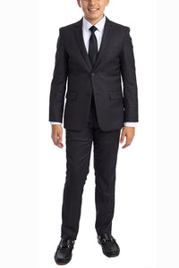 """Noah"" Perry Ellis Kids Charcoal 5-Piece Suit"