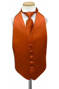 Persimmon Luxury Satin Kids Tuxedo Vest
