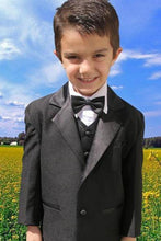 "Load image into Gallery viewer, ""Prodigy"" Kids Black Tuxedo 5-Piece Set"