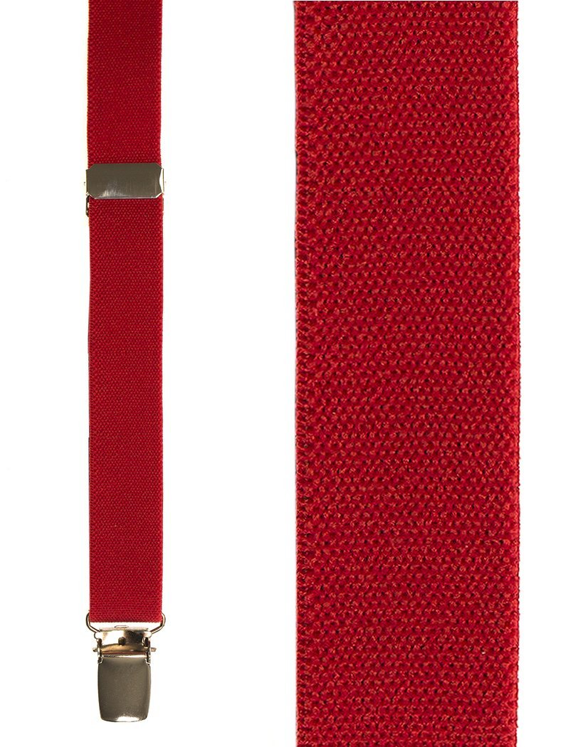 Kids Red Oxford Suspenders