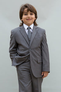 """Elliot"" Kids Grey 5-Piece Suit"