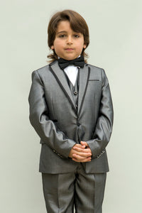 """Venetian"" Kids Grey Tuxedo 5-Piece Set"