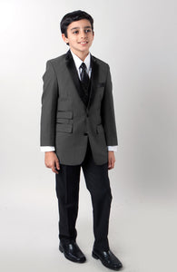 """Jason"" Tazio Kids Charcoal 4-Piece Tuxedo"