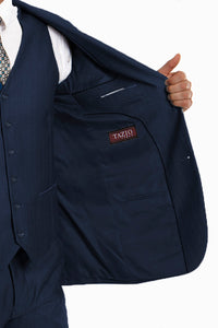"""Benjamin"" Kids Textured Navy 5-Piece Suit"