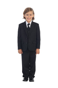 """Charlie"" Kids Black Suit 5-Piece Set"