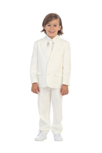 """Charlie"" Kids Ivory Suit 5-Piece Set"