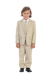 """Charlie"" Kids Khaki Suit 5-Piece Set"
