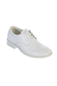"""Sonoma"" Kids White Matte Tuxedo Shoes"