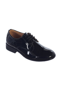 """Carson"" Kids Black Tuxedo Shoes"