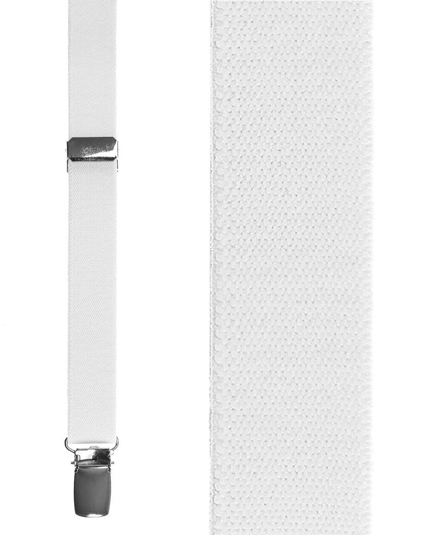 Kids White Oxford Suspenders
