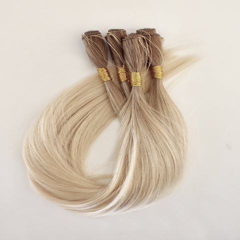 "18"" Hand Tied Wefts - 10N (Lightest Neutral Blonde)"