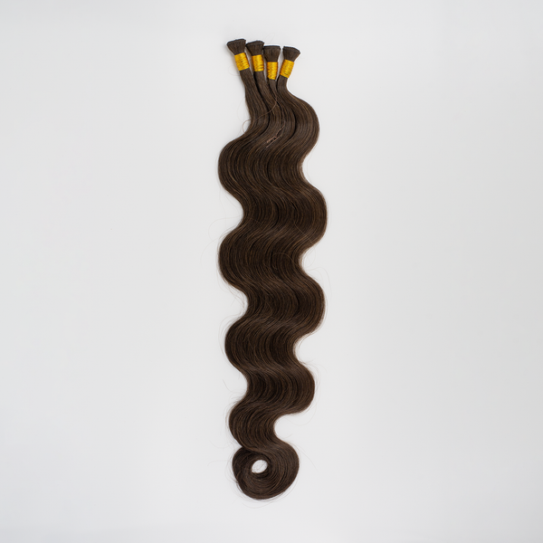 "22"" Beach Wave Hand Tied Wefts 3N (Neutral Darkest Brown"