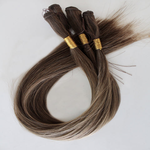 "18"" Hand Tied Wefts - 8/6WB (Warm Mixed Medium Brown)"