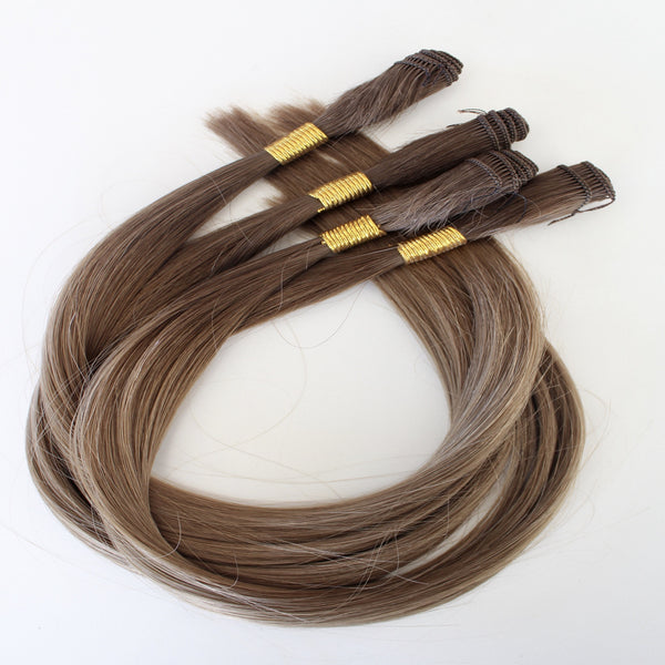 "18"" Hand Tied Wefts - 8N (Neutral Light Brown)"