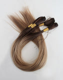 "22"" Hand Tied Wefts - 9/7WBL (Warm Mixed Dark Blonde)"