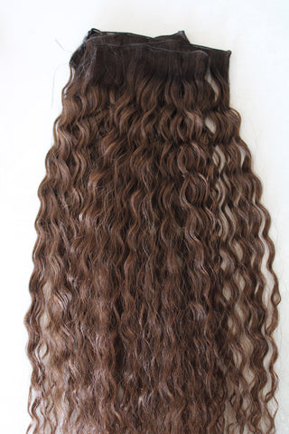 "22"" Hand Tied Wefts - Deep Wave - 5WB (Warm Brown)"