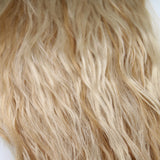 "22"" Beach Wave Hand Tied Wefts- 10/8WBL(Warm Blonde Mix)"