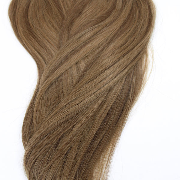 "24"" Hand Tied Weft - 8/6 WB (Warm Medium Brown Mix)"