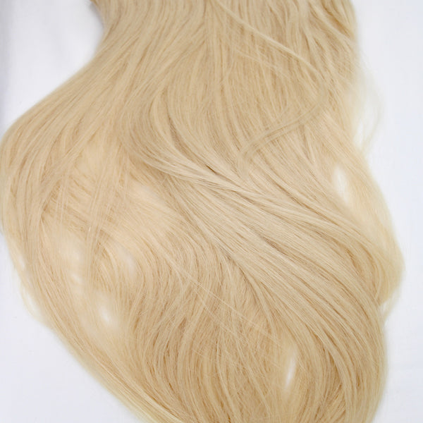 "18"" Hand Tied Wefts - 10P (Platinum)"
