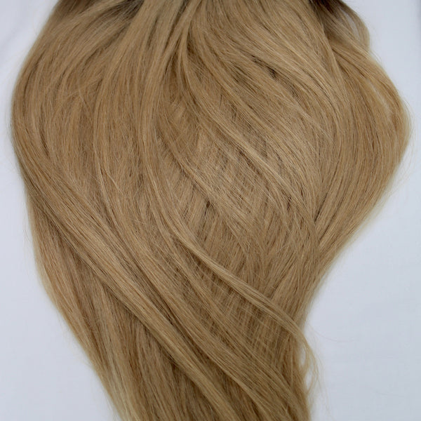 "18"" Hand Tied Wefts - 9WBL (Warm Dark Blonde)"