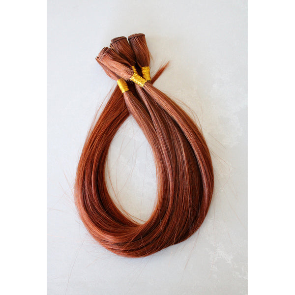"22"" Hand Tied Wefts - 6RC (Red Copper)"