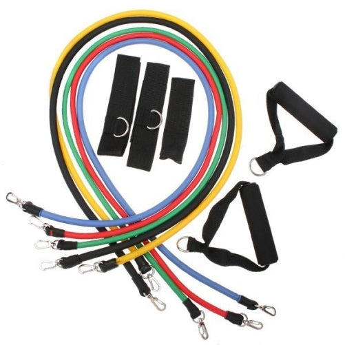 11 Pieces of Resistance Bands set For Fitness Exercise,Workout,  Yoga, Abs or Pilates