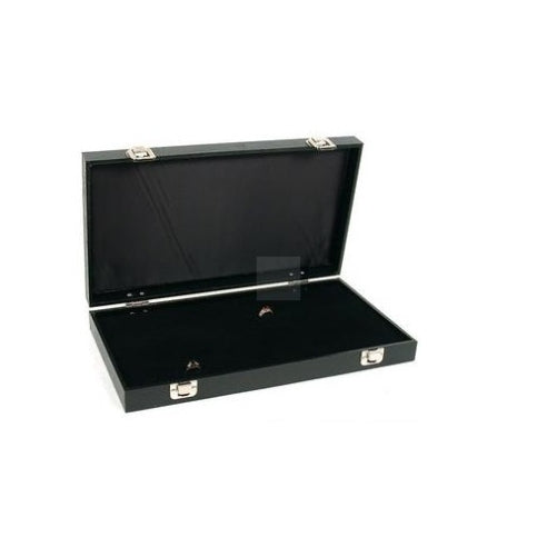 70 ring jewellery display storage box tray case - faux leather organiser