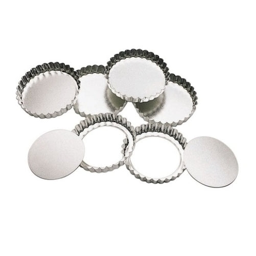 Set of 6 Kitchen Loose Bottom Tart Tins 10cm