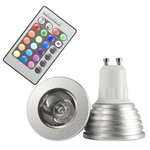 GU10 16 Colors Changing RGB LED Light Bulb 3W with Remote Control - Home Lighting