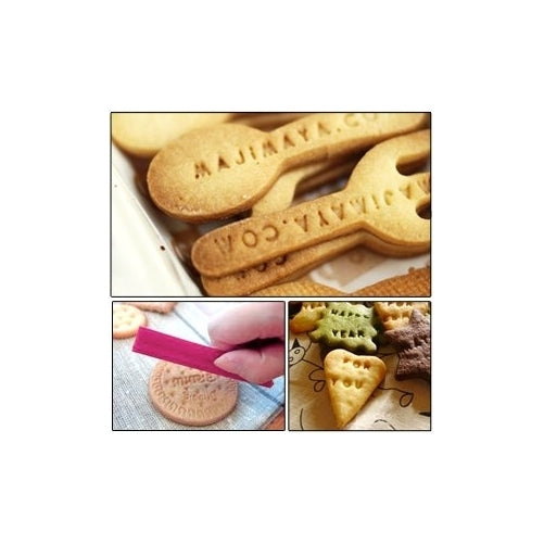 68 pcs Alphabet, Number, Letter Biscuit Fondant Cake/Cookie Stamp Impress Embosser cutter - Mold Set