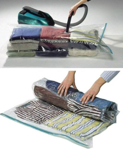 2 Packs of Storage Saving Space Clothes Bags XL - 100 x 130cm -Vacuum Storage Bag